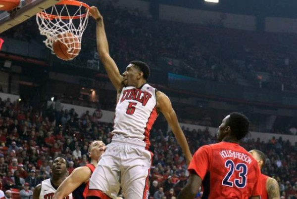 UNLV's Christian Wood is our Player of the Week after dominating against Arizona. (Sam Morris/Las Vegas Review-Journal)