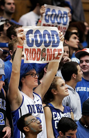 Maryland's move to the ACC became a popular trash talk theme among Duke fans (Mark Dolejs / USA TODAY Sports)