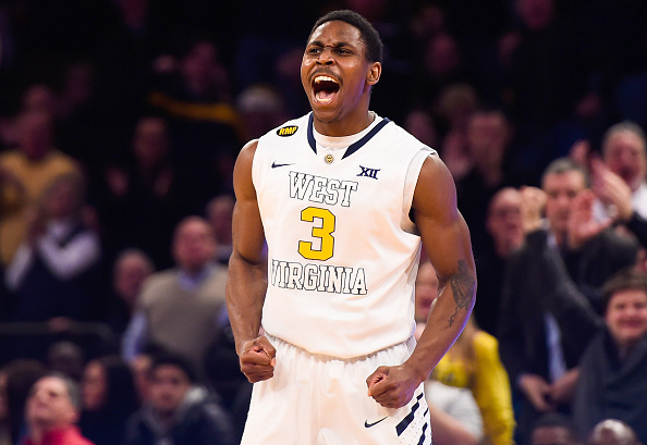 Senior Juwan Staten had led the Mountaineers to a 12-1 start heading into Big 12 play. (Getty Images)