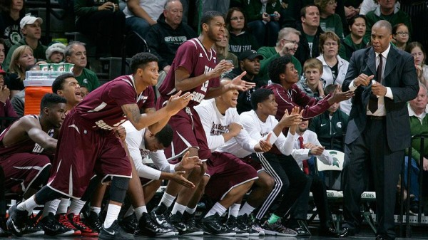Texas Southern shocked the Spartans on Saturday. (Al Goldis / AP)