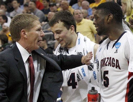 Mark Few, Kevin Pangos and Gary Bell Are Steering Gonzaga Towards Yet Another Dominant Regular Season Finish. Will The Zag's Disappointing 2013 NCAA Tournament Showing Impact This Team's Spot Within The Bracket?