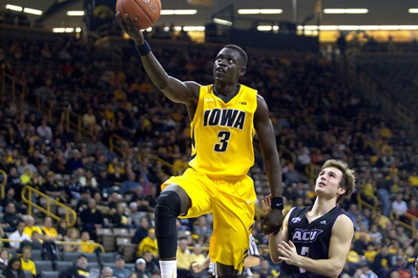Peter Jok could be a huge piece for Iowa if he can be consistent during conference play. (Alyssa Hitchcock, The Daily Iowan)