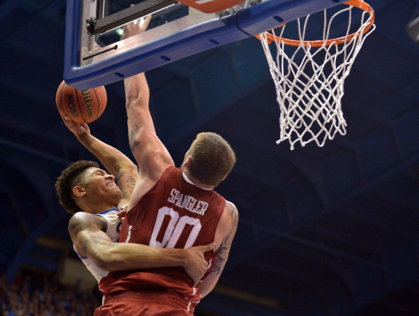 Kansas and Oklahoma Took It Hard at Each Other Last Night (USA Today Images)