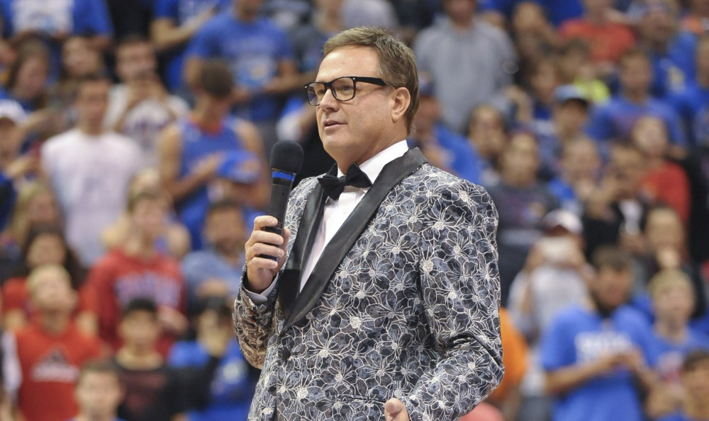 This is what a coach can get away with when you dominate the Big 12 like Bill Self has done at Kansas. (Denny Medley/USA Today Sports)