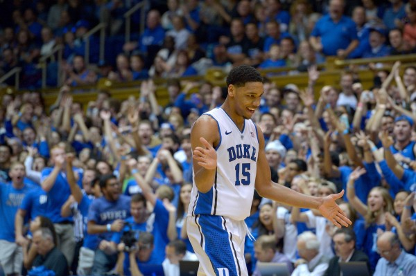 At The Midway Point Of The Season, Duke Freshman Jahlil Okafor Is The Frontrunner To Win The Wooden Award. (Photo Credit: Getty Images)