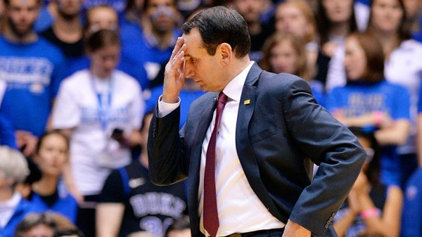 Mike Kzyzewski Had No Answers in Tuesday's Loss to Miami. (Grant Halverson / Getty Images)