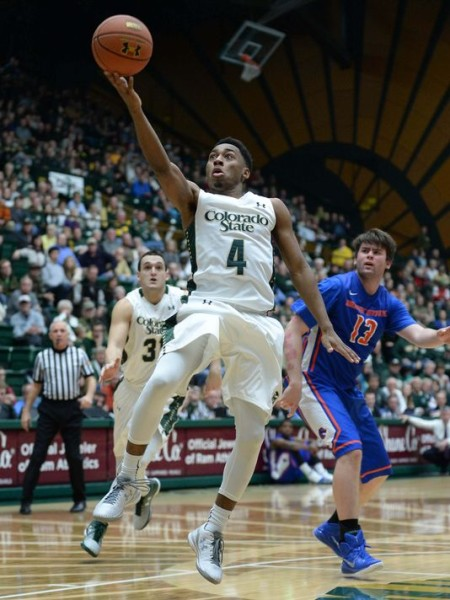 John Gillon Went For A Career-High 25 Points Against Boise State (Ron Chenoy, USA Today)