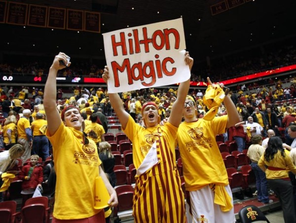 Iowa State will look for some Hilton Magic when it faces Kansas on Saturday (AP Photo/Charlie Neibergall)