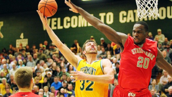 Vermont bested Stony Brook on Saturday in a crucial America East tilt. (Photo: BRIAN JENKINS/For the Free Press)