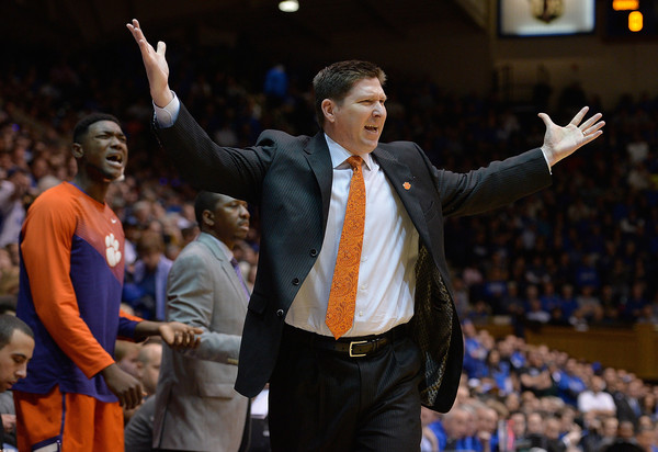 Clemson has suffered from a major talent deficit when competing with elite teams in ACC during Brad Brownell's tenure. (Grant Halverson/Getty Images North America)