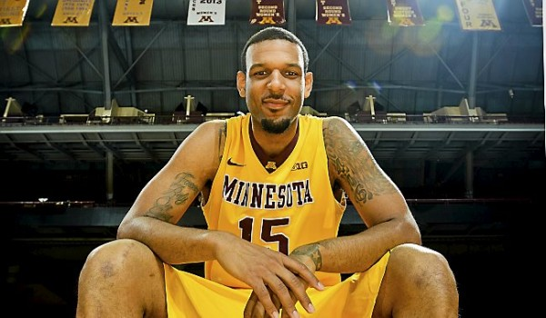 Maurice Walker was unstoppable in the post in Minnesota's 60-42 victory over Nebraska on Saturday. (Ben Garvin, Pioneer Press)