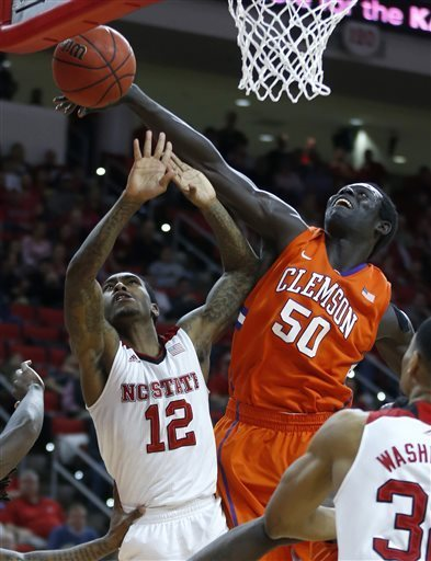 Sidy Djitte and Clemson smothered NC State on their way to another solid week (AP Sports)