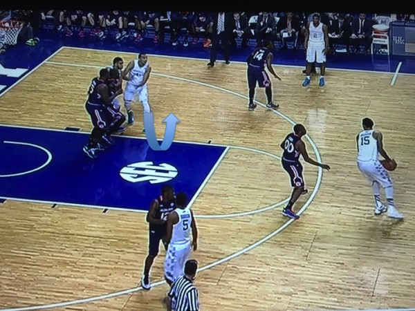 Lyles switches it up this time (screen grab via ESPN).