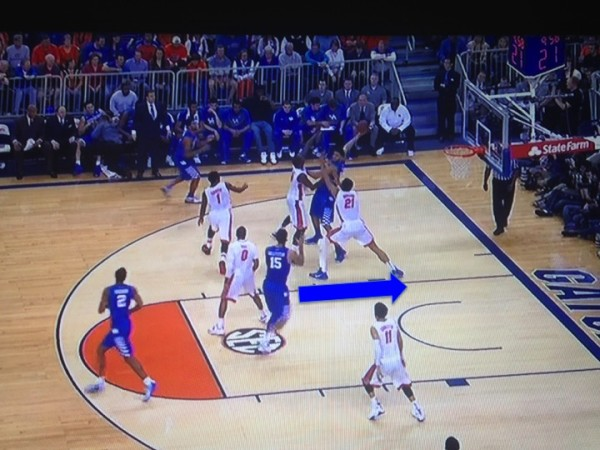 Can't forget about Willie Cauley-Stein streaking to the basket (screen grab via ESPN).
