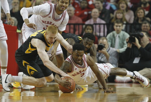 Aaron White posted a double-double in Iowa's win in Lincoln over Nebraska. (USA Today Images)
