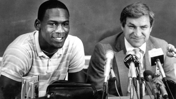 Dean Smith With Michael Jordan in the Early 1980s