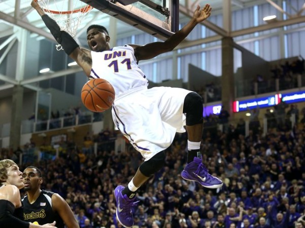 Northern Iowa knocked around Wichita State on Saturday. (Bryon Houlgrave, The Register)