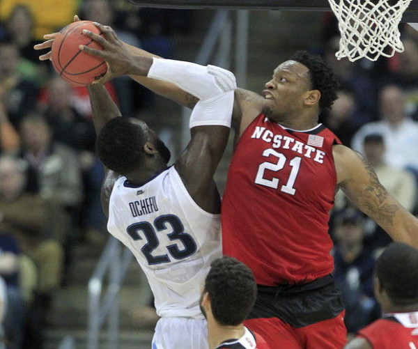 North Carolina State upended the top-seeded Wildcats in Pittsburgh. (Associated Press)