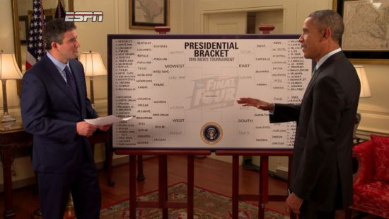 Even POTUS had to go with undefeated Kentucky this year. (ESPN)