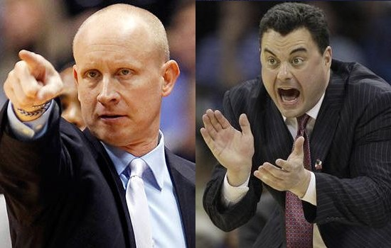 Two old friends go at it in the Sweet 16. Will Chris Mack the Pupil get the upper hand? Or will Sean Miller the teacher still show who's boss? (Getty)