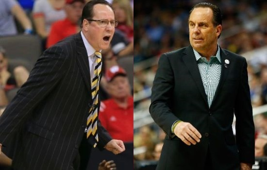 Compared to the Pantheon of coaches, Gregg Marshall and Mike Brey aren't often thrown in the discussion. But, both have their teams playing at the highest of levels at the moment. (AP & Getty)