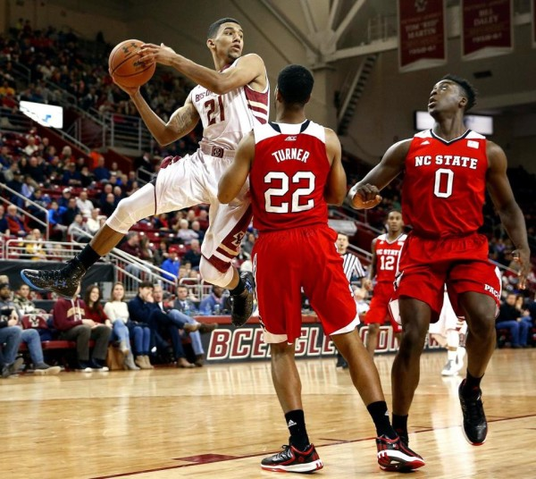 N.C. State had no answer for Olivier Hanlan and Boston College in a bad loss for the Wolfpack. (Winslow Townson/Boston Globe)