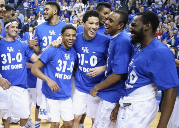 Kentucky's History-Making Season Continued Saturday. Up Next: The SEC Tournament. (Photo by Andy Lyons/Getty Images)