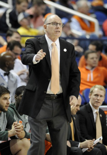 Jim Larranaga hopes to see Miami's name called out during Sunday's NCAA Selection show. (Photo by Liz Condo, theACC.com)