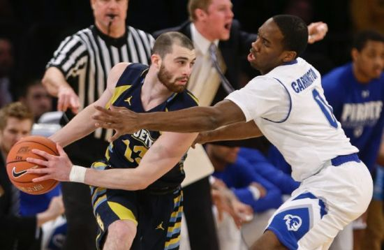 """With little on the line, Mark Carlino and Marquette played about """"as well as we could play"""" according to head coach Steve. (AP/Frank Franklin II)"""