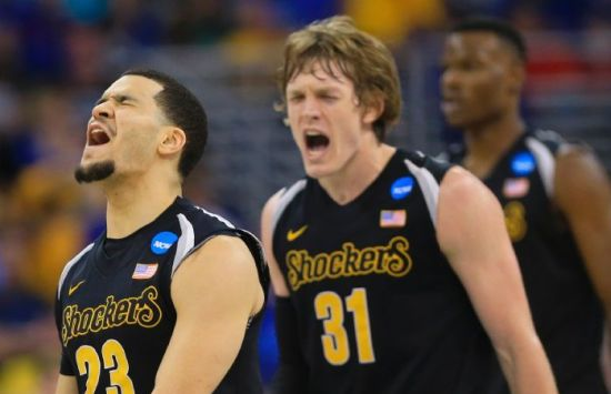 The Shockers might not have the inside presence they did last year, but with guys like Fred VanVleet (left) and Ron Baker manning the backcourt, Wichita State is still is great shape. (AP Photo/Nati Harnik)