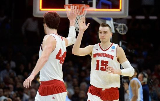 Some considered Wisconsin a one-man wrecking crew with some nice pieces, but Sam Dekker (#15) proved much more than that Thursday evening.  (Photo by Harry How/Getty Images)