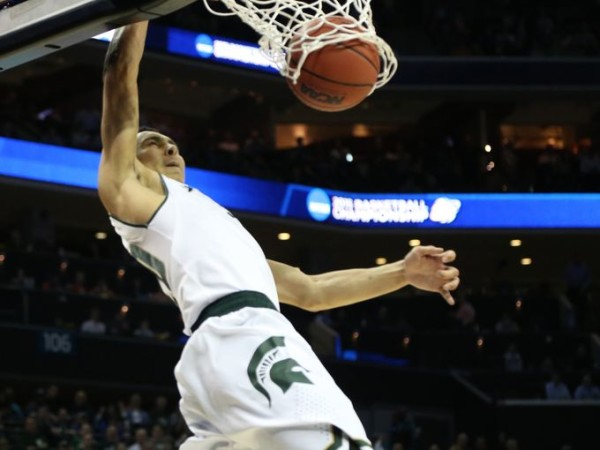 Travis Trice led Michigan State's decisive first half run. (Kirthman F. Dozier/Detroit Free Press)