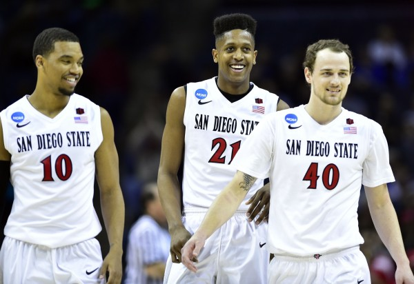 All Smiles for San Diego State Tonight -- We Can't Score? (USA Today Images)