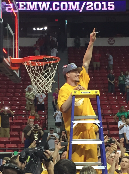 Josh Adams, Mountain West Tournament MVP, Celebrating A Championship