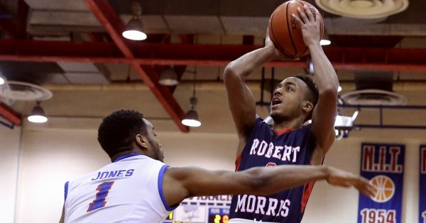 Robert Morris upended top-seeded St. Francis-Brooklyn for the NEC title. (John Minchillo, Associated Press)