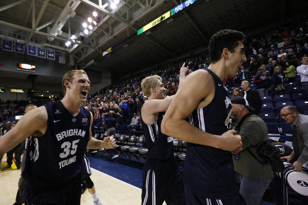 BYU pulled off a stunner in Spokane. (Young Kwak / AP)