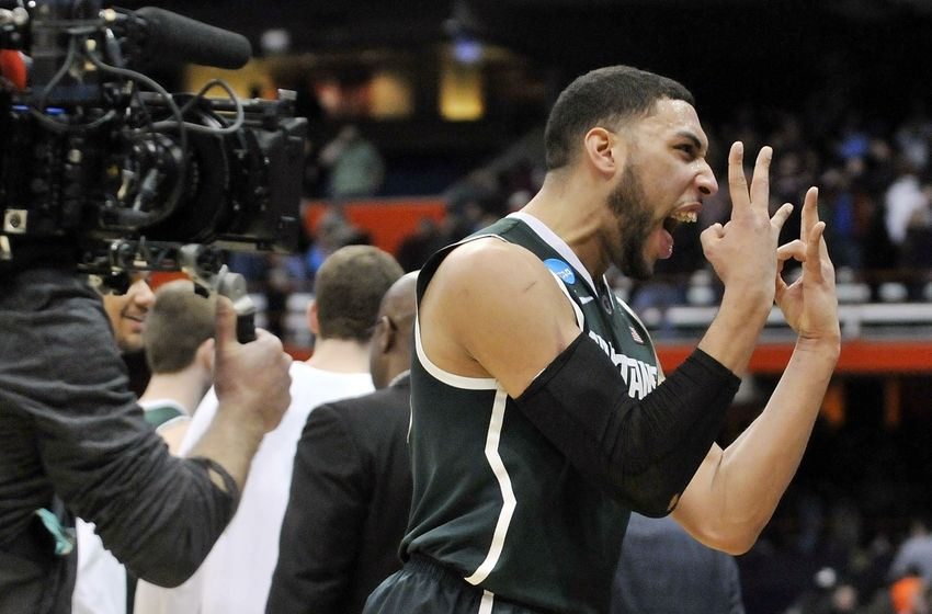 Denzel Valentine and the Spartans hope to wind up in Indy next weekend. (Mark Konezny-USA TODAY Sports)
