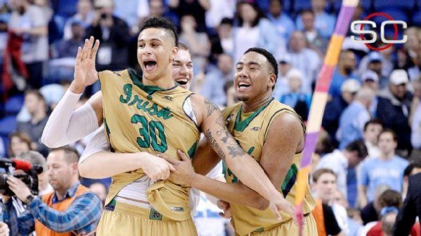 Notre Dame will try and defy NCAA Tournament history after winning the ACC Championship. (AP Photo/Bob Leverone)