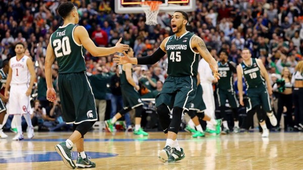 The Spartans came up big down the stretch against Oklahoma. (Elsa / Getty Images North America)