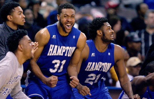 Hampton caught fire in the MEAC Tournament and now gets to dance. (Rob Ostermaier / Daily Press)