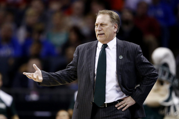 Tom Izzo vs. Rick Pitino would be an awesome Elite Eight coaching matchup. (Mike Mulholland | MLive.com)