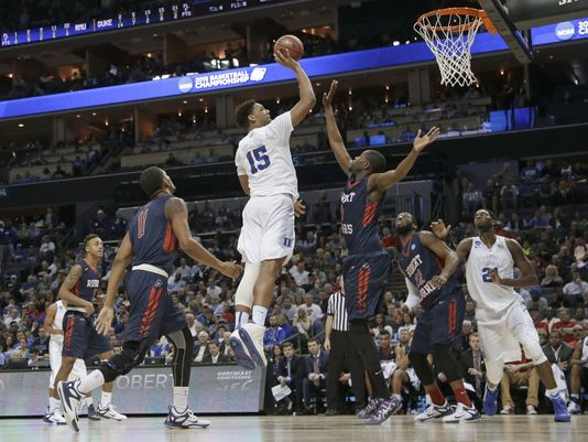 Jahlil Okafor and Duke were too big for Robert Morris to handle in the paint. (AP Photo)
