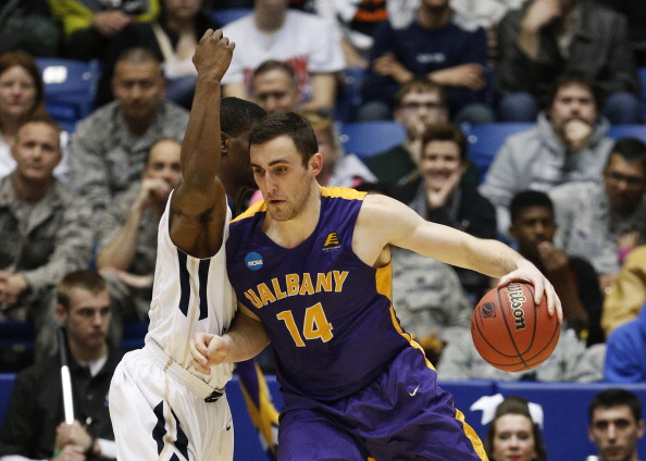 Sam Rowley and Albany are going dancing for the third-straight year. (Gregory Shamus/Getty Images)