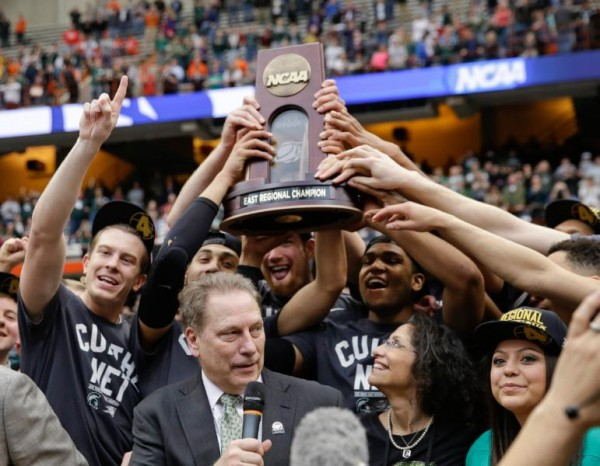 For the second-straight season, a #7-seed won the East Region. (AP Photo/Seth Wenig)