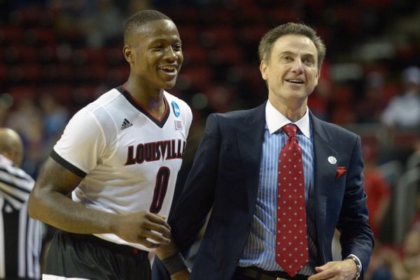 #4 Louisville is all smiles as it gears up for the Sweet Sixteen. (Kirby Lee-USA TODAY Sports)