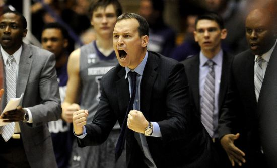 Chris Collins and Northwestern might be on the verge of a tournament berth. (AP)