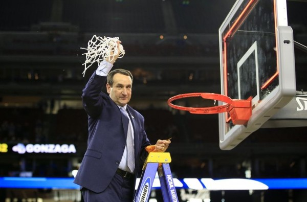 Coach K And Duke Cut Down The Nets In Houston; Is The Indianapolis Twine Next? (USA Today Sports)
