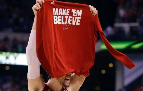 Down the stretch, Frank Kaminsky and Wisconsin played like they were going to win. (AP Photo/Michael Conroy)