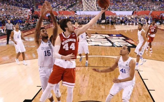 No shock here - Frank Kaminsky is the key player in tonight's National Title game. (AP Photo/Chris Steppig, Pool)