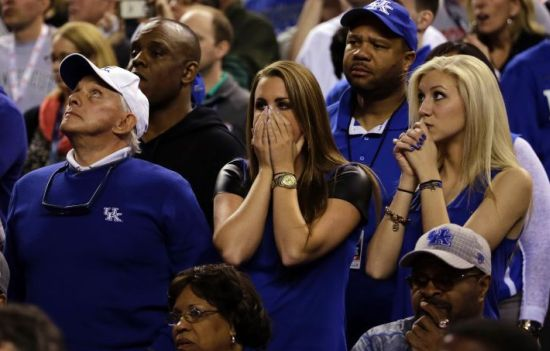 The dream season came to a sudden and aburpt end for Big Blue Nation. (AP Photo/David J. Phillip)